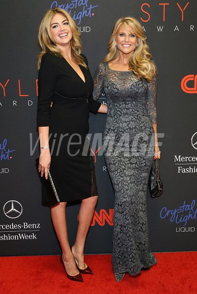 Models Kate Upton and Christie...