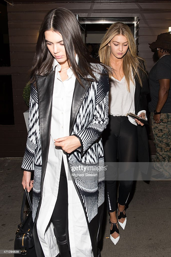 Models Kendall Jenner (L) and Gigi Hadid attends Gigi Hadid's Birthday Party at Red Stixs on April 26, 2015 in New York City.