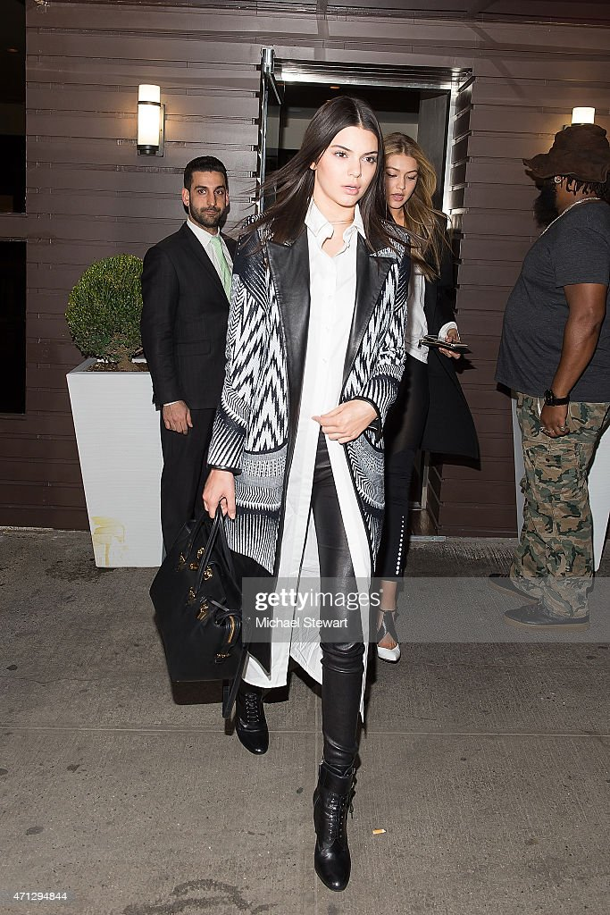 Models Kendall Jenner and Gigi Hadid attends Gigi Hadid's Birthday Party at Red Stixs on April 26 2015 in New York City
