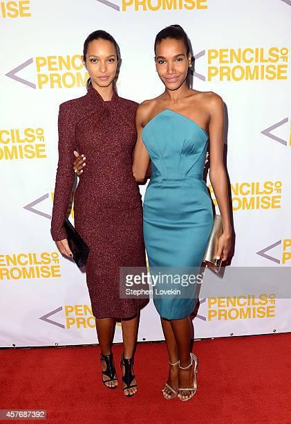 Models Lais Ribeiro and Arlenis Sosa attend the Fourth Annual Pencils Of Promise Gala Honoring Sophia Bush Brad Haugen And Gary Vaynerchuk at...