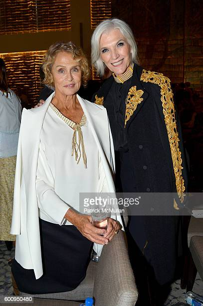 Models Lauren Hutton and Maye Musk attend the The Daily Front Row's 4th Annual Fashion Media Awards at Park Hyatt New York on September 8 2016 in New...
