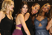 Models Lily Donaldson Kendall Jenner Joan Smalls and Jourdan Dunn onstage during amfAR's 22nd Cinema Against AIDS Gala Presented By Bold Films And...
