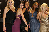 Models Lily Donaldson Kendall Jenner Joan Smalls Jourdan Dunn and Lara Stone onstage during amfAR's 22nd Cinema Against AIDS Gala Presented By Bold...