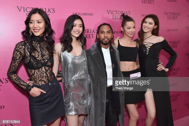 Models Liu Wen Ming Xi singer Miguel models Xiao Wen and Sui He attend the 2017 Victoria's Secret Fashion Show In Shanghai After Party at...