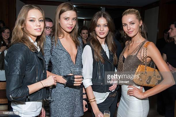 Models Liza Yermalovich Kristina Romanova Anastasia Krivosheeva and Valentina Zelyaeva attend Lonneke Engel And Valentina Zelyaeva Organice Your Life...
