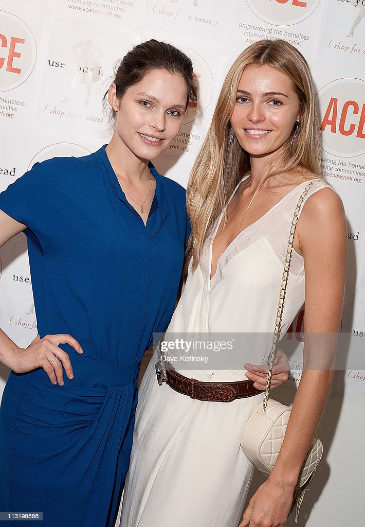 Models Lonneke Engel Valentina Zelyaeva attend Shop for a Cause at Use Your Head on April 26 2011 in New York City