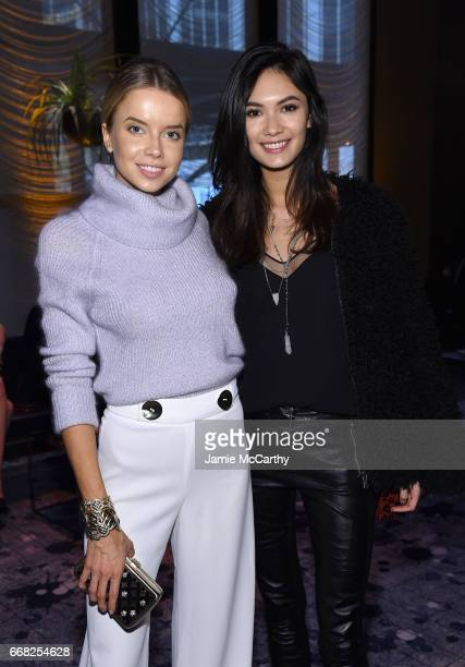 Models Louisa Warwick and Jessica Barta Lam attend The Hollywood Reporter 35 Most Powerful People In Media 2017 at The Pool on April 13 2017 in New...