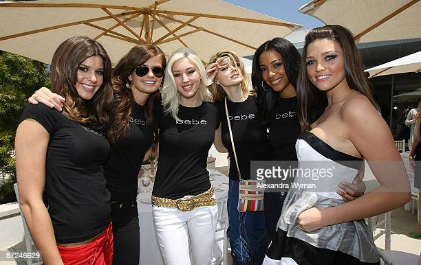 Models Maitlyn Ewa Destinee Khrystyna Erin and Rachel at the announcement of Bebe's next 'It Girl' held at the Bebe store on May 13 2009 in Beverly...