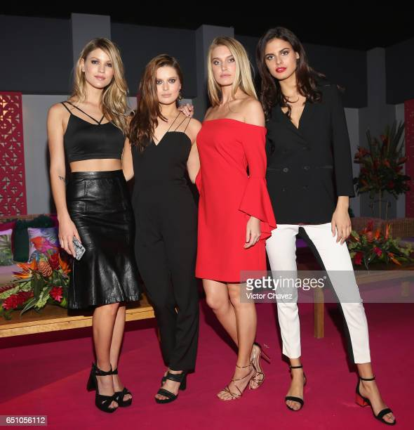 Models Mariana Bayon Michaela Karakova Caroline Lowe and Bojana Krsmanovic attend the Liverpool Fashion Fest Spring/Summer 2017 at Televisa San Angel...