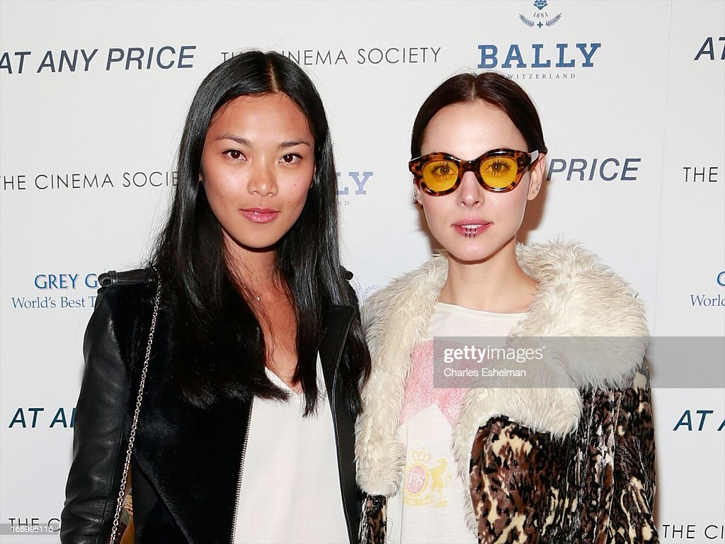 Models Meki Saldana and Holly Kiser attend The Cinema Society & Bally screening of Sony Pictures Classics' 'At Any Price' at Landmark Sunshine Cinema on April 18, 2013 in New York City.