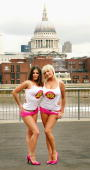 Models Michelle Marsh and Lucy Pinder regular Loaded covergirls take part in a 'fun stunt' marking the 10th birthday of the monthly lads' magazine...