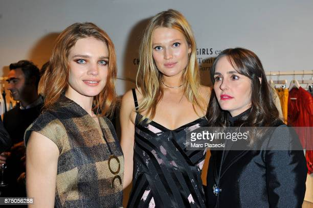 Models Natalia Vodianova and Toni Garrn attend the 'Vestiaire Collective x Toni Garrn' charity sale to benefit TGarrn Foundation on November 16 2017...