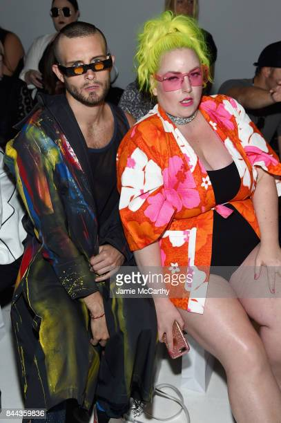 Models Nico Tortorella and Margie Plus attend the Chromat fashion show during New York Fashion Week The Shows at Gallery 3 Skylight Clarkson Sq on...