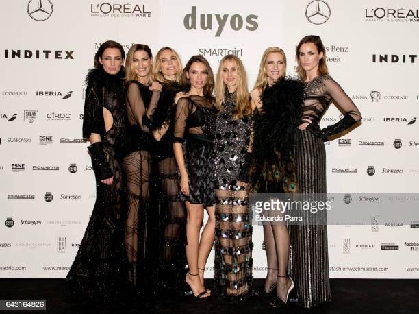 Models Nieves Alvarez Laura Sanchez Veronica Blume Almudena Fernandez Vanesa Lorenzo Judith Masco and Helena Barquilla are seen at kissing room after...
