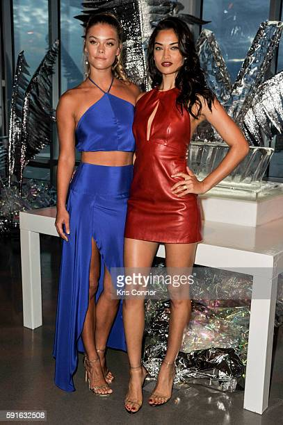 Models Nina Agdal and Shanina Shaik attend a party hosted by W Hotels to celebrate the opening of W Dubai at The Glasshouses on August 17 2016 in New...