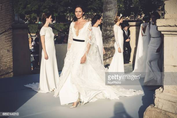Models of Ivan Campaña pose on the catwalk in Seville Spain to May 26 2017 These days held in Seville the SIQ SEVILLE HANDCRAFT amp FASHION catwallk...