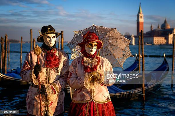 Models of the Venice Carnival, Venice, UNESCO World Heritage Site, Veneto, Italy, Europe