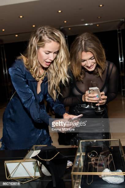 Models Olivia Jordan and Lacey Rogers attend Logan Hollowell | Marvel Thor Ragnarok Collection Dinner at MILK Studios LA on October 12 2017 in Los...