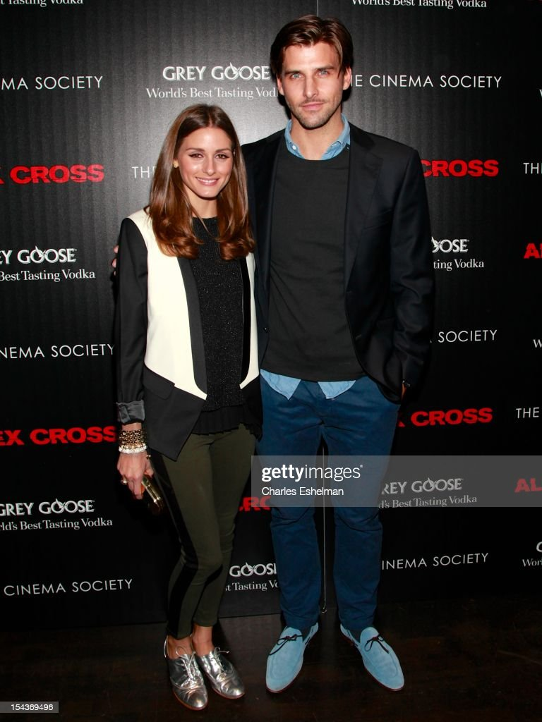 Models <a gi-track='captionPersonalityLinkClicked' href=/galleries/search?phrase=Olivia+Palermo&family=editorial&specificpeople=2639086 ng-click='$event.stopPropagation()'>Olivia Palermo</a> and <a gi-track='captionPersonalityLinkClicked' href=/galleries/search?phrase=Johannes+Huebl&family=editorial&specificpeople=5696811 ng-click='$event.stopPropagation()'>Johannes Huebl</a> attend The the Cinema Society & Grey Goose screening of 'Alex Cross' at Tribeca Grand Screening Room on October 18, 2012 in New York City.