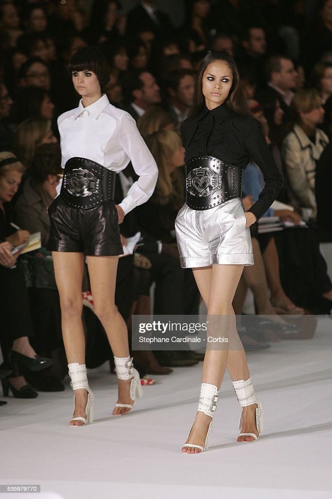 Models on the catwalk at the 'Givenchy ready-to-wear Spring-Summer 2006 collection' fashion show.