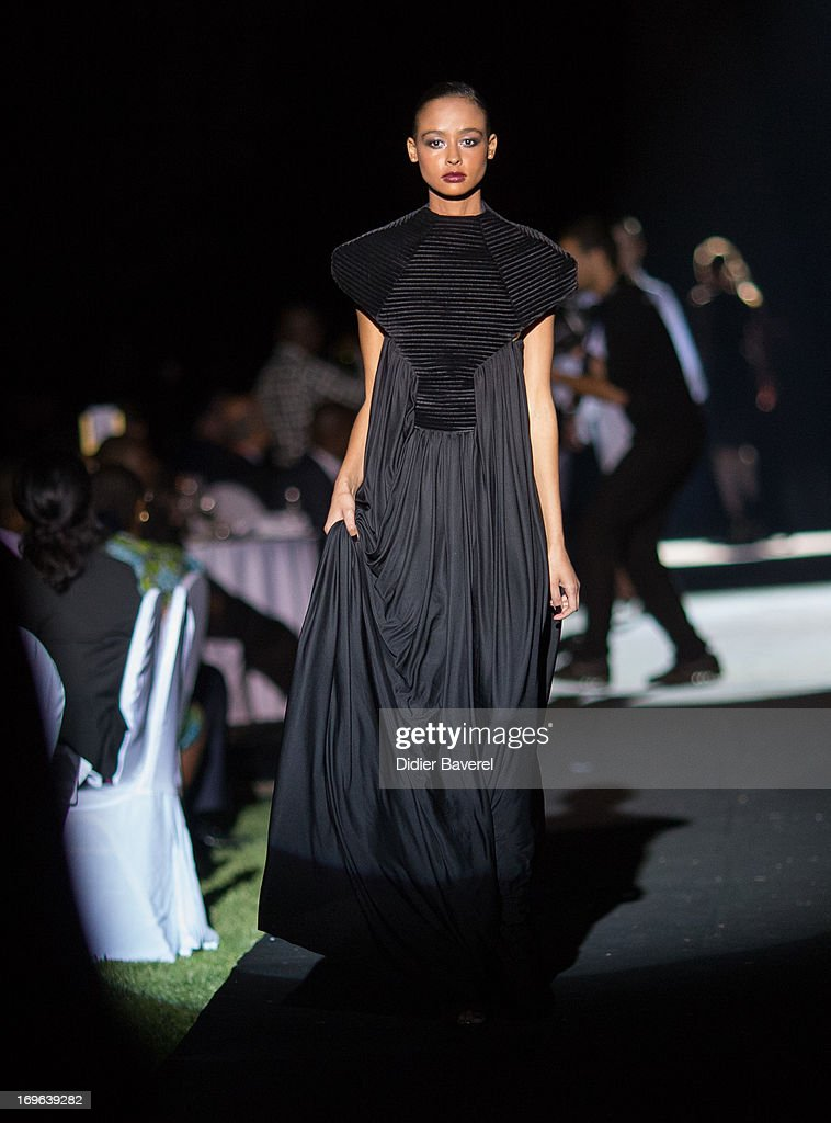 Models on the Made in Africa Gala catwalk show curated by Ozwald Boateng OBE at the IC Banker of the Year Awardsat the Taj Palace on May 29, 2013 in Marrakech, Morocco.