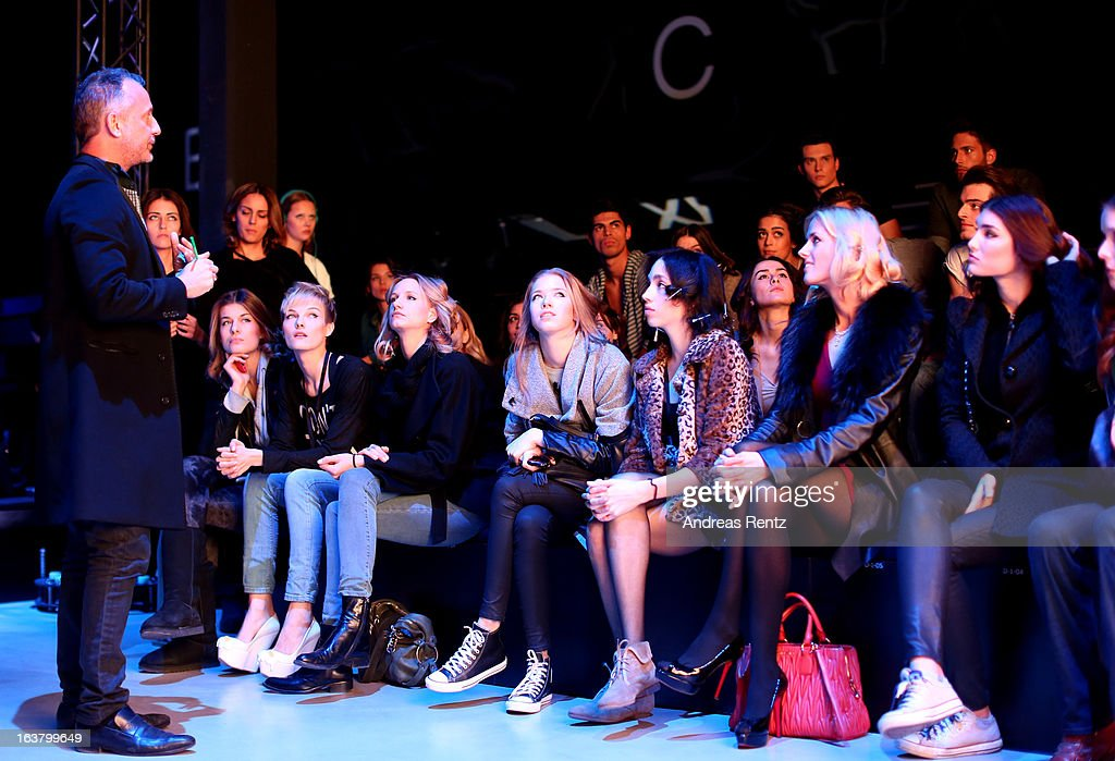 Models on the runway at rehearsals ahead of the Best of Mercedes Benz Fashion Week Istanbul Fall/Winter 2013/14 at Antrepo 3 on March 16, 2013 in Istanbul, Turkey.