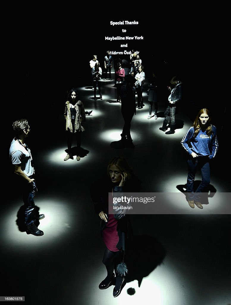 Models on the runway at rehearsals ahead of the Best of Mercedes-Benz Fashion Week Istanbul Fall/Winter 2013/14 at Antrepo 3 on March 16, 2013 in Istanbul, Turkey.