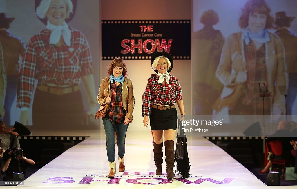 Models on the runway at the afternoon performance of the Breast Cancer Care Fashion Show at Grosvenor House, on October 2, 2013 in London, England.