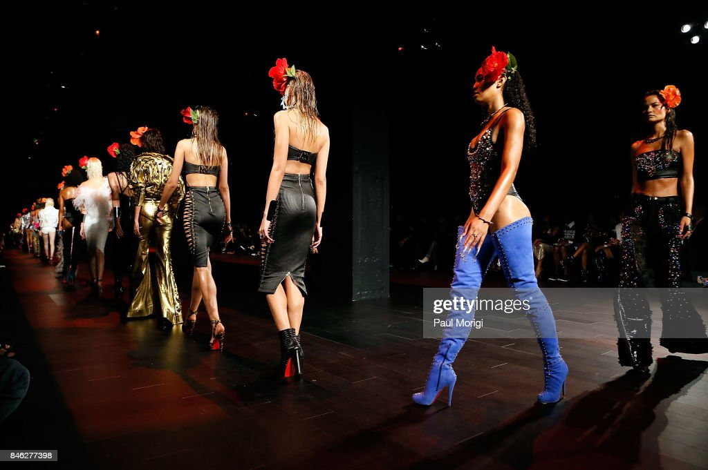 Models on the runway at The Blonds fashion show during New York Fashion Week: The Shows at Gallery 1, Skylight Clarkson Sq on September 12, 2017 in New York City.