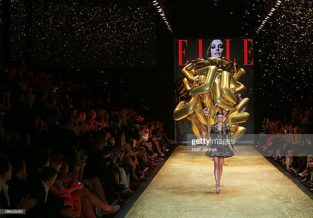 Models on the runway at the Hello Elle Australia show during Mercedes-Benz Fashion Week Australia Spring/Summer 2013/14 at Carriageworks on April 12, 2013 in Sydney, Australia.