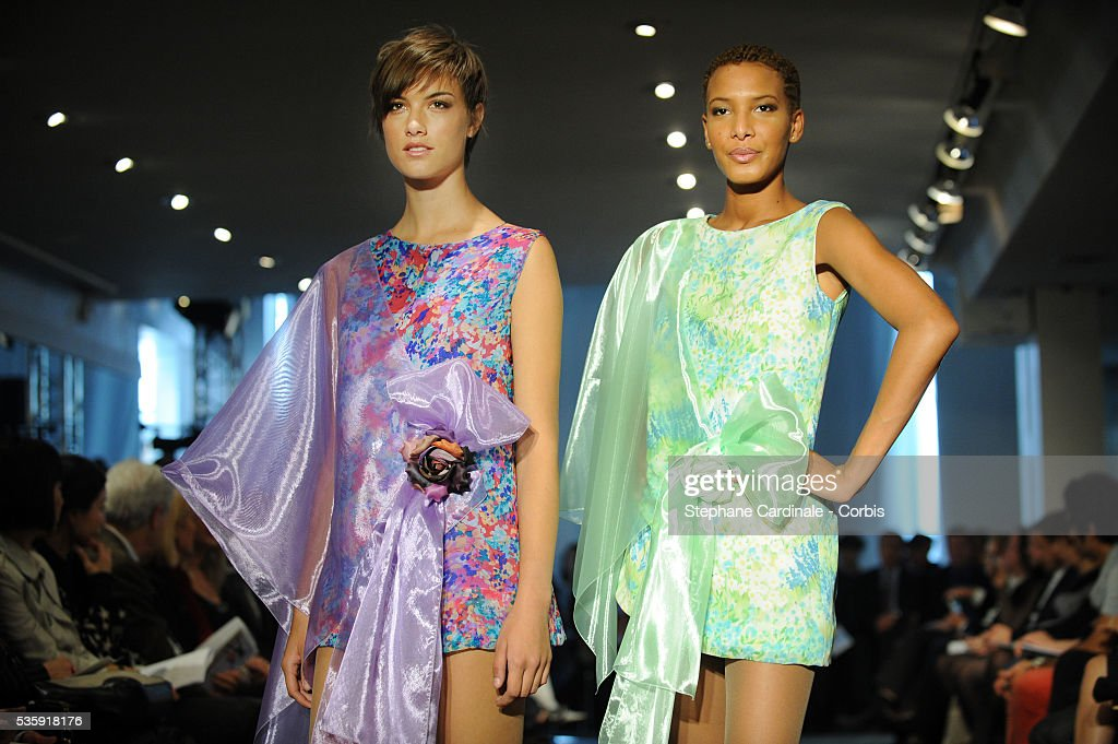 Models on the runway at the Pierre Cardin show as part of Paris Fashion Week Spring/Summer 2011 at Espace Pierre Cardin in Paris.