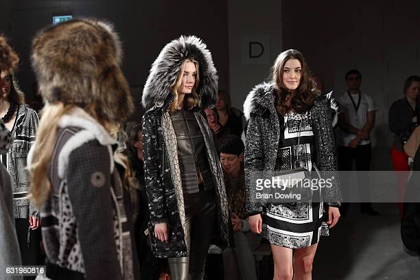 Models on the runway at the Sportalm show during the MercedesBenz Fashion Week Berlin A/W 2017 at Kaufhaus Jandorf on January 18 2017 in Berlin...