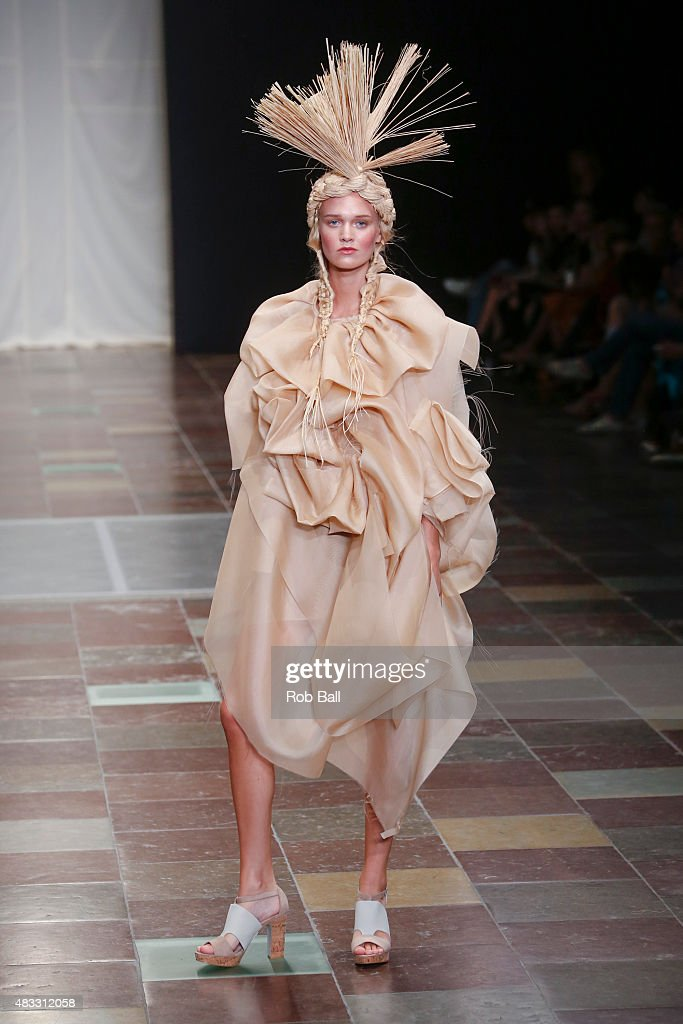Models on the runway for designer Nicholas Nybro during the third day of Copenhagen Fashion Week Spring/Summer 2016 on August 7, 2015 in Copenhagen, Denmark.