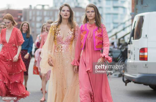 Models outside Stine Goya on August 09 2017 in Copenhagen Denmark