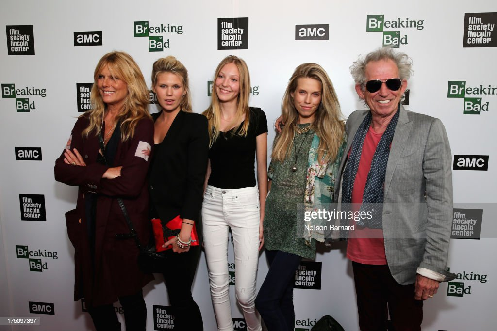 Models <a gi-track='captionPersonalityLinkClicked' href=/galleries/search?phrase=Patti+Hansen&family=editorial&specificpeople=206760 ng-click='$event.stopPropagation()'>Patti Hansen</a>, <a gi-track='captionPersonalityLinkClicked' href=/galleries/search?phrase=Alexandra+Richards&family=editorial&specificpeople=213455 ng-click='$event.stopPropagation()'>Alexandra Richards</a>, Ella Richards, <a gi-track='captionPersonalityLinkClicked' href=/galleries/search?phrase=Theodora+Richards&family=editorial&specificpeople=202641 ng-click='$event.stopPropagation()'>Theodora Richards</a>, and musician <a gi-track='captionPersonalityLinkClicked' href=/galleries/search?phrase=Keith+Richards+-+Musician&family=editorial&specificpeople=202882 ng-click='$event.stopPropagation()'>Keith Richards</a> attend The Film Society of Lincoln Center and AMC Celebration of 'Breaking Bad' Final Episodes at The Film Society of Lincoln Center, Walter Reade Theatre on July 31, 2013 in New York City.
