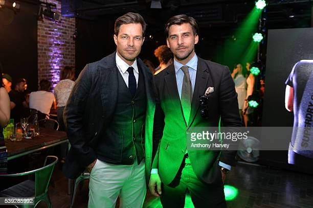 Models Paul Sculfor and Johannes Huebl attend the Official #SuperdrySport launch at LCM in conjunction with BFC and Balthazar at Superdry...