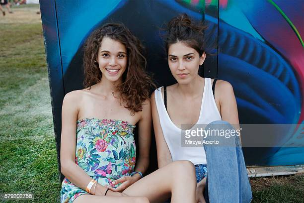 Models Pauline Hoarau and Lea Peillard attend the 2016 Panorama Festival on July 22 2016 in New York City