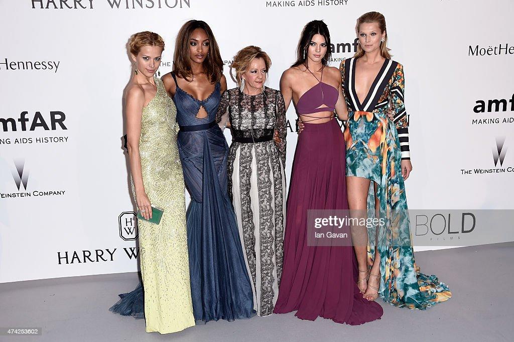 Models Petra Nemcova Jourdan Dunn Caroline Scheufele of Chopard models Kendall Jenner and Toni Garrn attend amfAR's 22nd Cinema Against AIDS Gala...