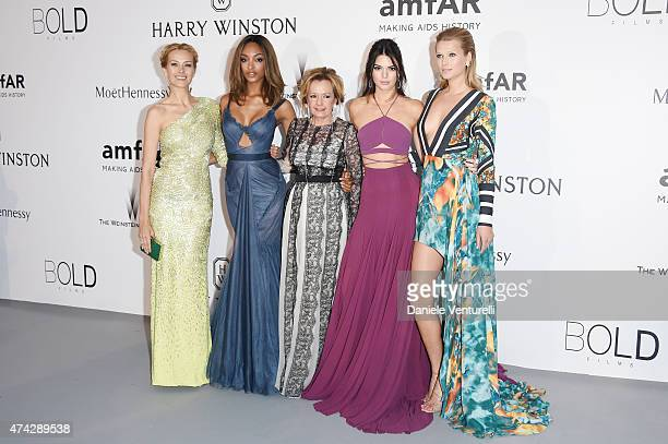 Models Petra Nemcova Jourdan Dunn Caroline Scheufele of Chopard models Kendall Jenner and Toni Garrn attend amfAR's 22nd Cinema Against AIDS Gala...