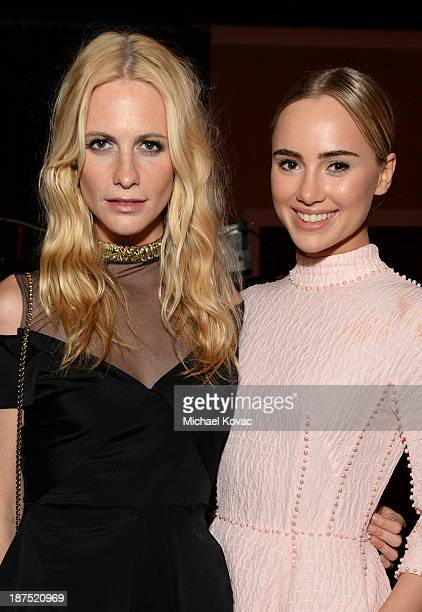 Models Poppy Delevingne and Suki Waterhouse with Stylebopcom attend the 2013 BAFTA LA Jaguar Britannia Awards presented by BBC America at The Beverly...