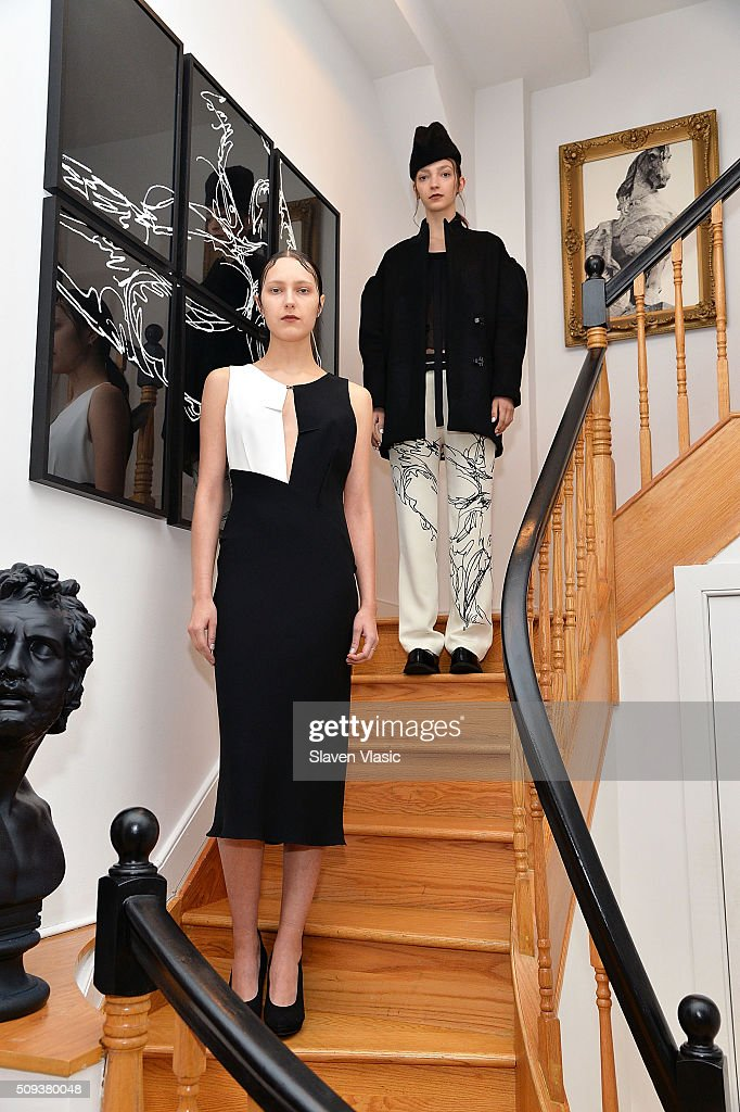 Models pose at Haus Alkire Presentation during Fall 2016 New York Fashion Week on February 10, 2016 in New York City.