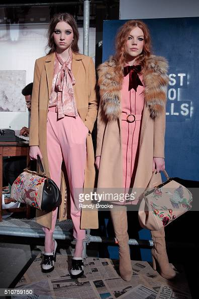 Models pose at the Alice Olivia By Stacey Bendet Presentation during Fall 2016 New York Fashion Week The Shows at The Gallery Skylight at Clarkson Sq...