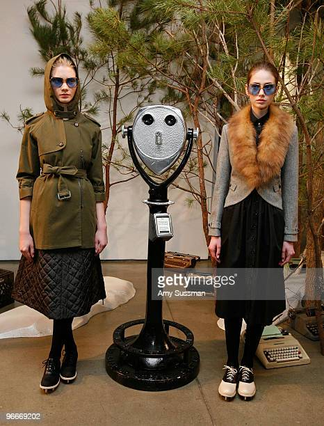 Models pose at the Band Of Outsiders/Boy Fall 2010 Fashion Show during MercedesBenz Fashion Week at Milk Studios on February 13 2010 in New York City