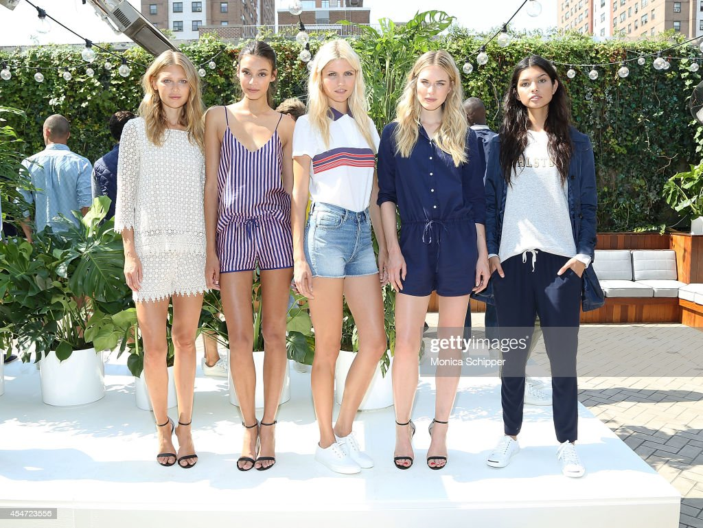 Models pose at the Gant Rugger presentation during MercedesBenz Fashion Week Spring 2015 at Maritime Hotel on September 5 2014 in New York City