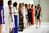 Models pose at the Kempner presentation during Spring 2016 New York Fashion Week The Shows at The Space Skylight at Clarkson Sq on September 10 2015...