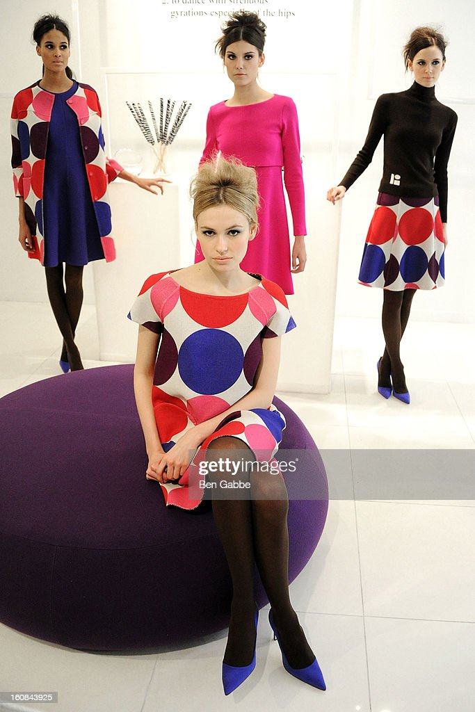 Models pose at the Lisa Perry fall 2013 presentation during MercedesBenz Fashion Week on February 6 2013 in New York City