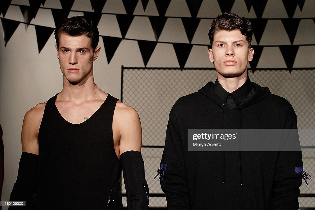 Models pose at the Rochambeau Presentation at Milk Studios on September 8, 2013 in New York City.