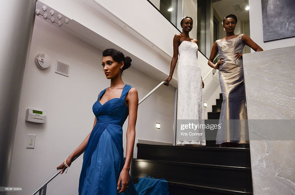 Models pose during the Leading Women Defined: First Ladies Reception on February 27, 2013 in Washington, DC.