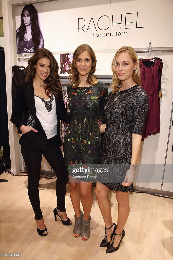 Models pose during the Rachel Roy collection presentation at Karstadt on November 21, 2013 in Hamburg, Germany.