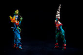 Models pose for a picture during the World Bodypainting Festival 2015 on July 5 2015 in Poertschach am Woerthersee Austria